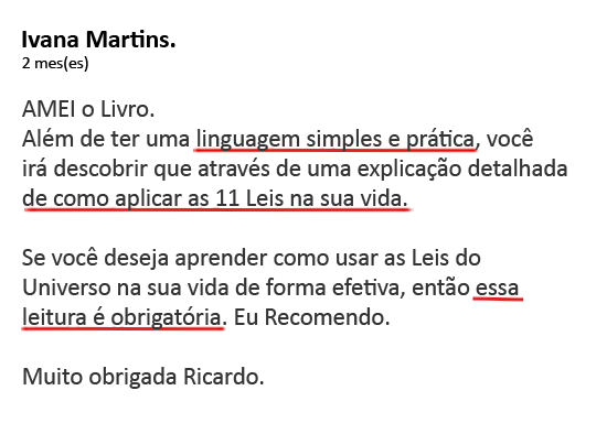 Depoimento, Ivana Martins, As 11 Leis